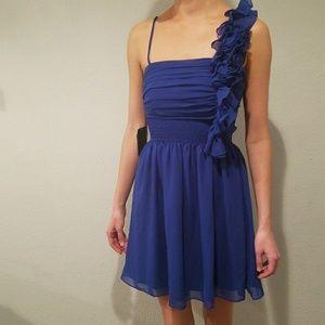 Cobalt blue party dress